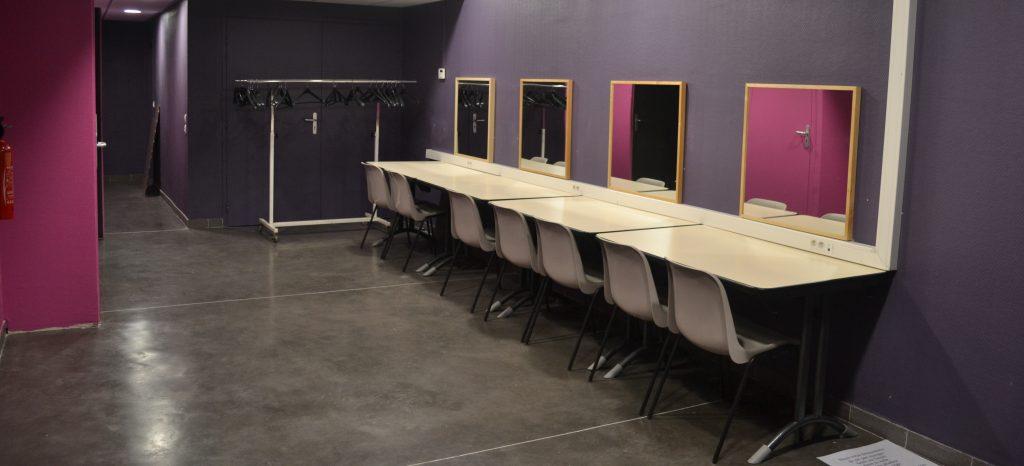 Le Centre Culturel de La Ricamarie est équipé de loges collectives et de deux loges individuelles. Des WC et des douches sont à disposition.